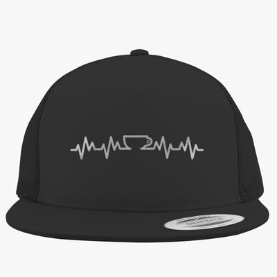 Coffee Lifeline Embroidered Trucker Hat