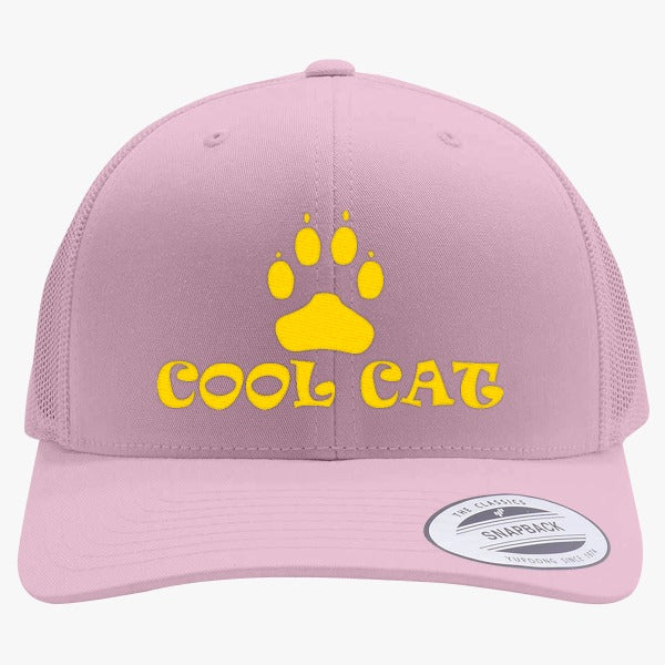 dbaa632b878 Cool Cat Embroidered Retro Embroidered Trucker Hat – Hatsline