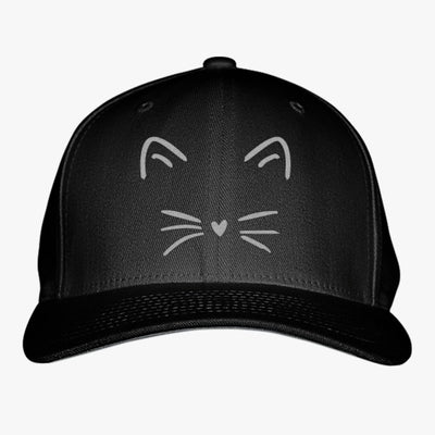 Cute Cat Embroidered Baseball Cap
