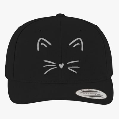 Cute Cat Brushed Embroidered Cotton Twill Hat