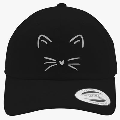 Cute Cat Embroidered Cotton Twill Hat