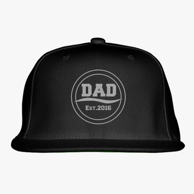 Dad Est.2016 Embroidered Snapback Hat