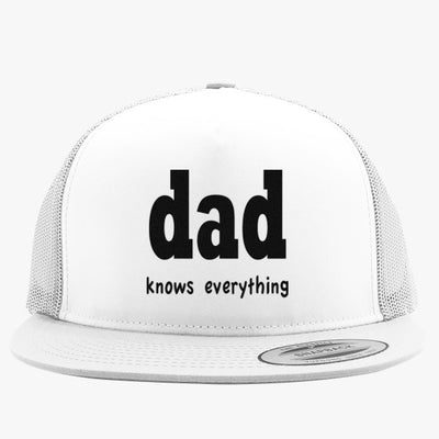 Dad Knows Everything Embroidered Trucker Hat