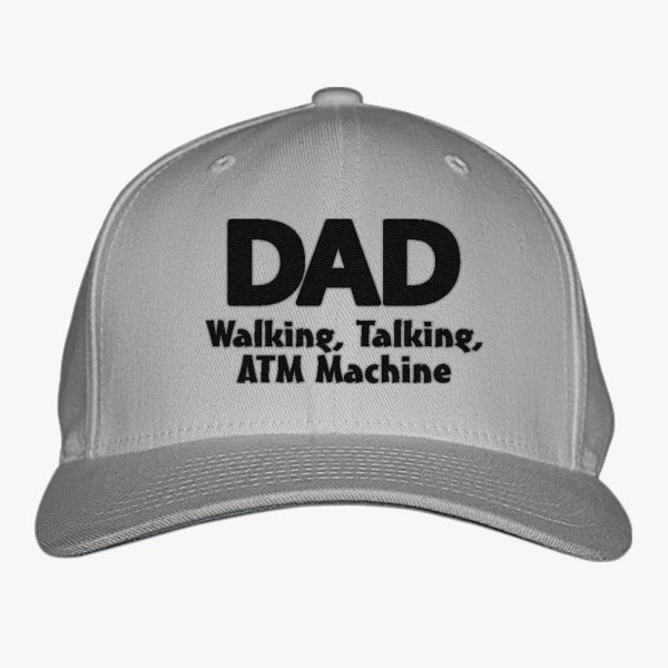 Dad Walking Talking ATM Embroidered Baseball Cap