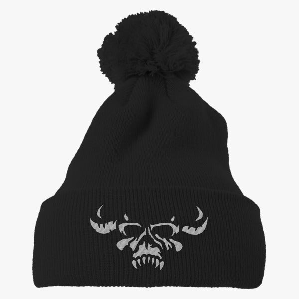 Danzig Band Embroidered Knit Pom Cap