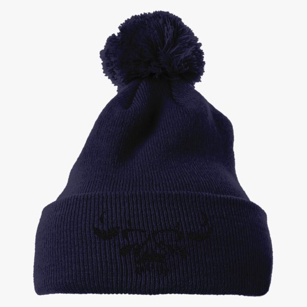 Danzig Embroidered Knit Pom Cap