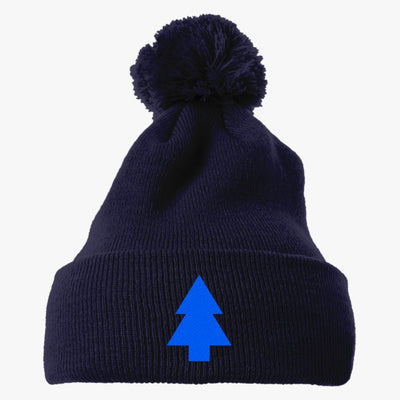 Dipper Pines Tree Gravity Falls Embroidered Knit Pom Cap