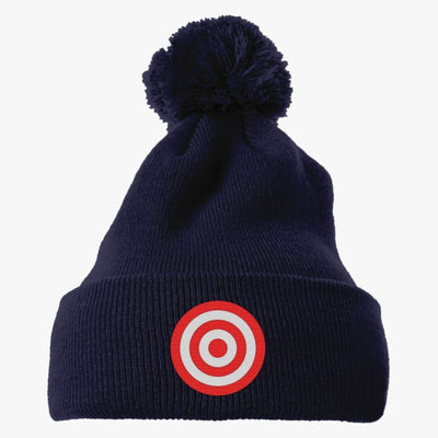 Discs Target Embroidered Knit Pom Cap