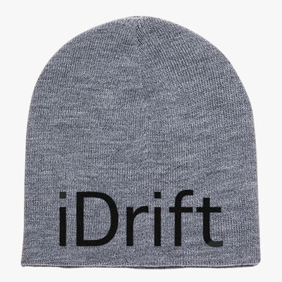 Drift Is My Style Black Knit Beanie