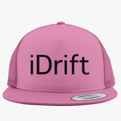 Drift Is My Style Black Embroidered Trucker Hat