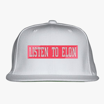 Elon Musk Clothing Embroidered Snapback Hat