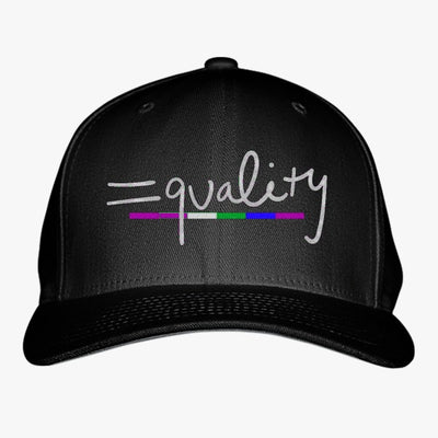 Equality Rainbow Embroidered Baseball Cap