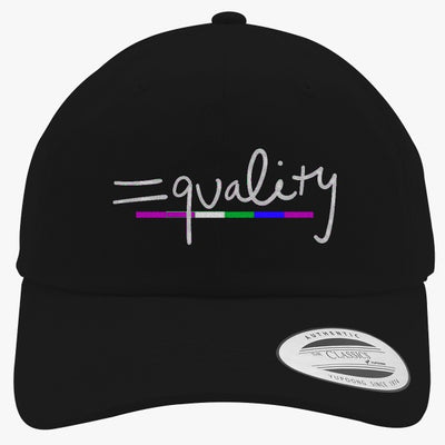 Equality Rainbow Embroidered Cotton Twill Hat