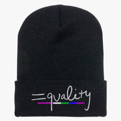 Equality Rainbow Knit Cap