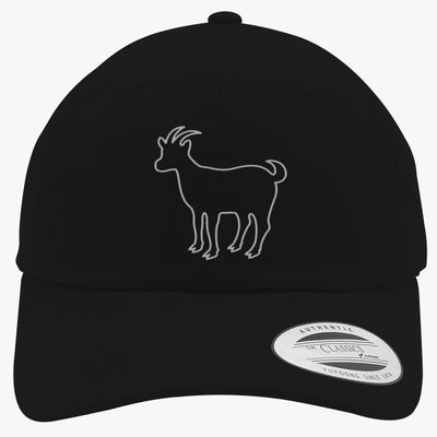 Erika Costell Goat Embroidered Cotton Twill Hat