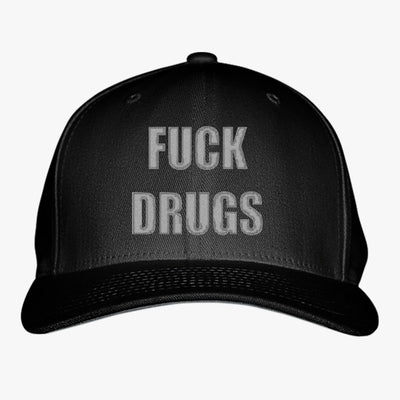 Fuck Drugs Embroidered Baseball Cap