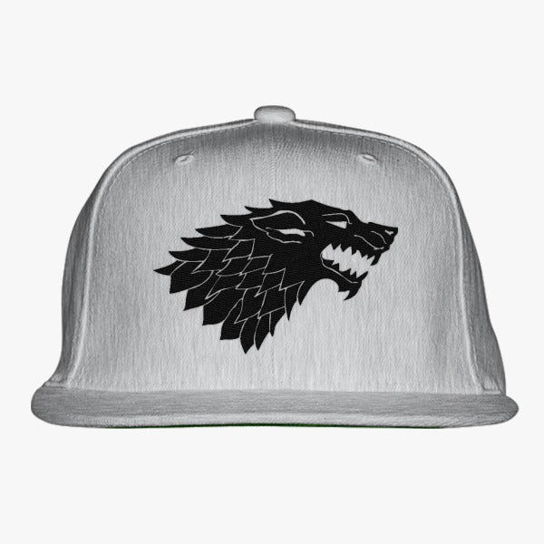 Game Of Thrones Wolf Embroidered Snapback Hat