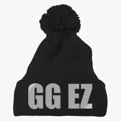 Gg Ez Embroidered Knit Pom Cap