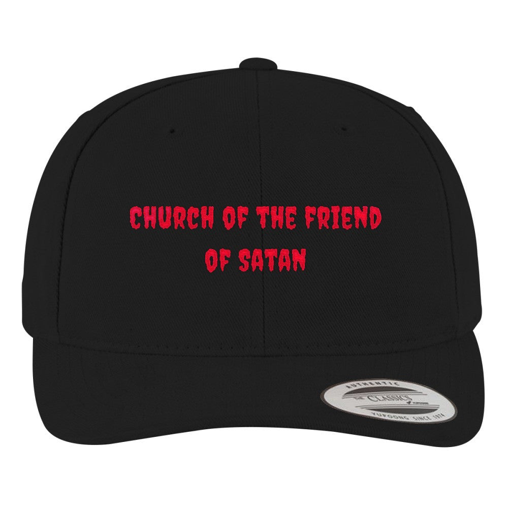 Goth Brushed Embroidered Cotton Twill Hat