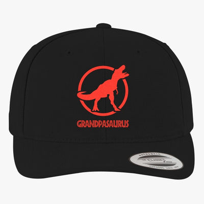 Grandpasaurus - Funny Grandparents  Brushed Embroidered Cotton Twill Hat