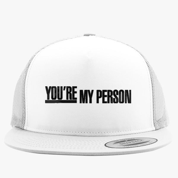 Grey\'s Anatomy - You\'re My Person Embroidered Trucker Hat – Hatsline