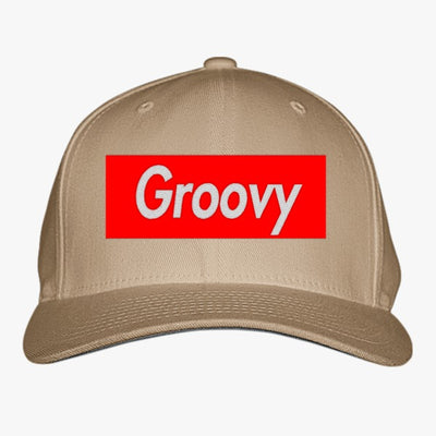Groovy Embroidered Baseball Cap