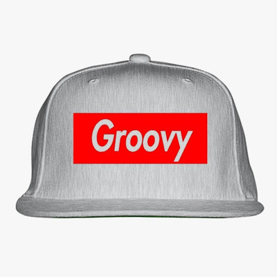 Groovy Embroidered Snapback Hat