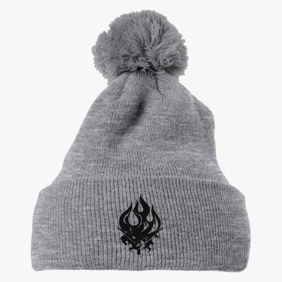 Gurren Lagann Logo 2 Embroidered Knit Pom Cap