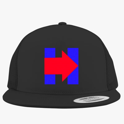 H Pride - Pro Hillary - Anti Trump Embroidered Trucker Hat