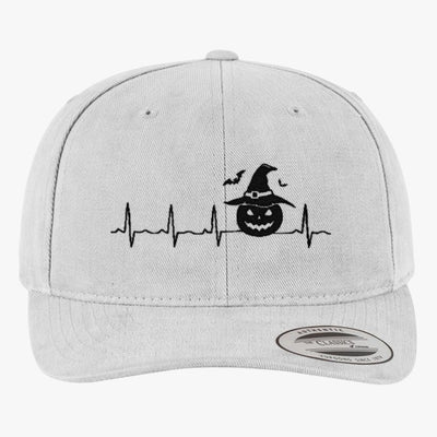 Halloween Heartbeat  Brushed Embroidered Cotton Twill Hat