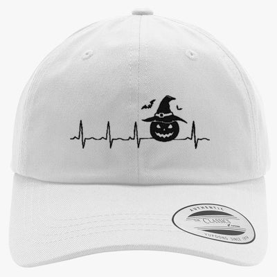Halloween Heartbeat  Embroidered Cotton Twill Hat