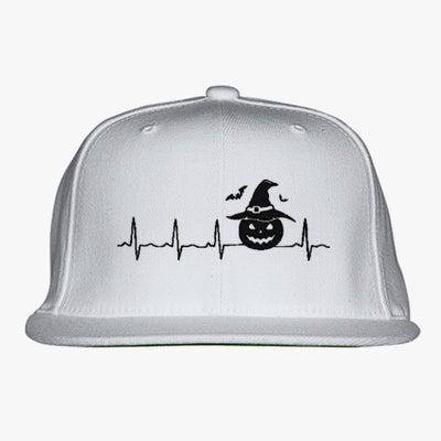 Halloween Heartbeat  Embroidered Snapback Hat