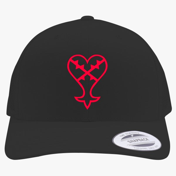 Heartless Logo Red Kingdom Hearts Embroidered Retro Embroidered