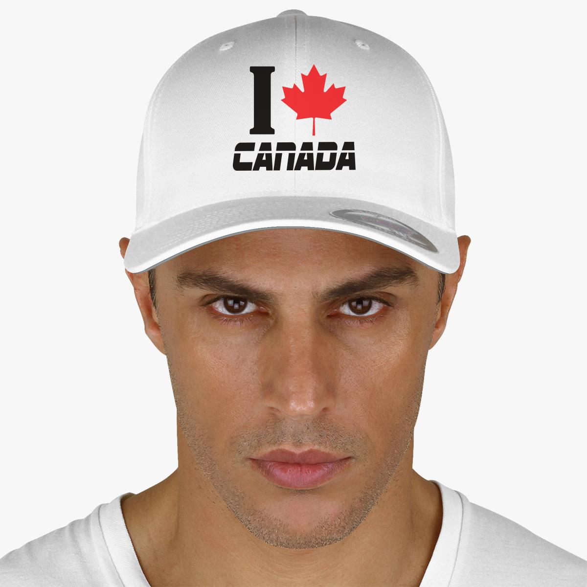 I LOVE CANADA Embroidered Baseball Cap