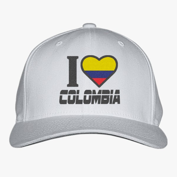 I LOVE COLOMBIA Embroidered Baseball Cap