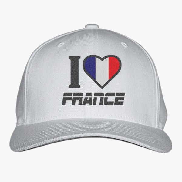 I LOVE FRANCE Embroidered Baseball Cap