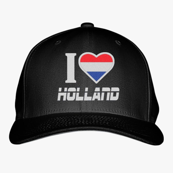 I LOVE HOLLAND Embroidered Baseball Cap