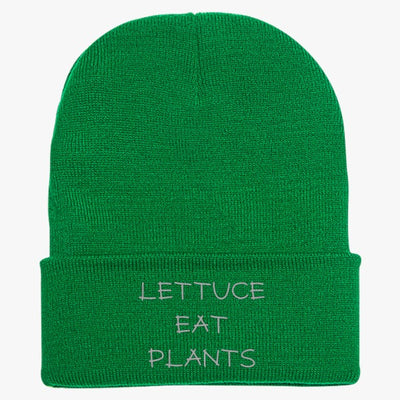 Lettuce Eat Plants Knit Cap