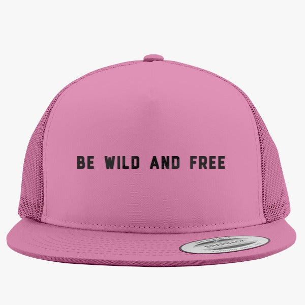 Be Wild And Free Embroidered Trucker Hat – Hatsline a9b3d5fb6b61