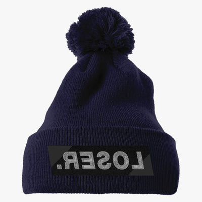 LOSER Embroidered Knit Pom Cap