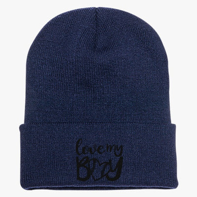 Love My Boy Baseball Knit Cap