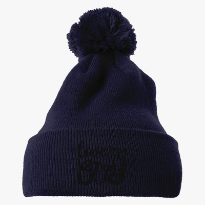 Love My Boy Baseball Embroidered Knit Pom Cap