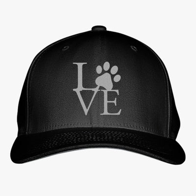 Love Paw Embroidered Baseball Cap