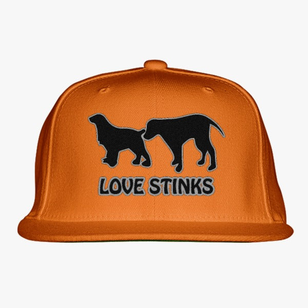 Love Stinks Embroidered Snapback Hat