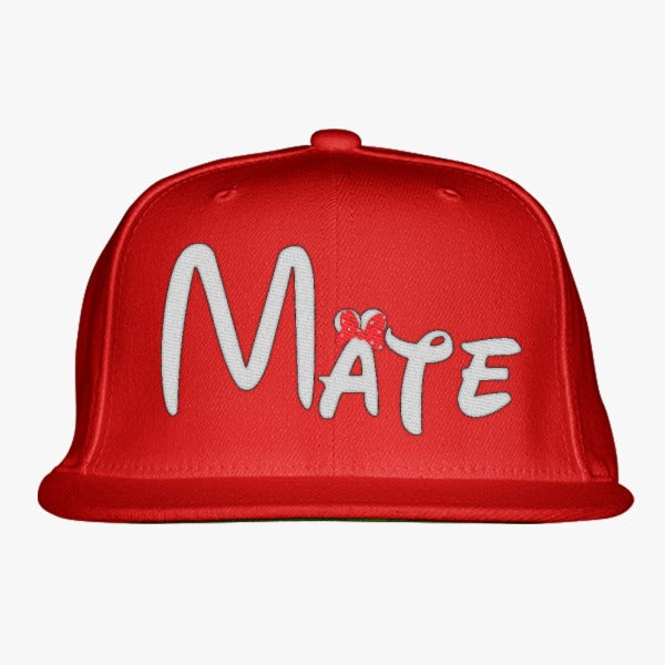 Mate Embroidered Snapback Hat