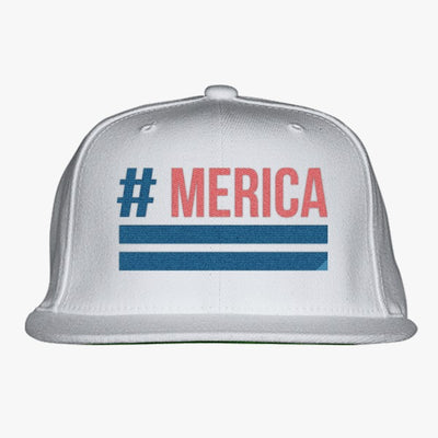 'Merica Embroidered Snapback Hat
