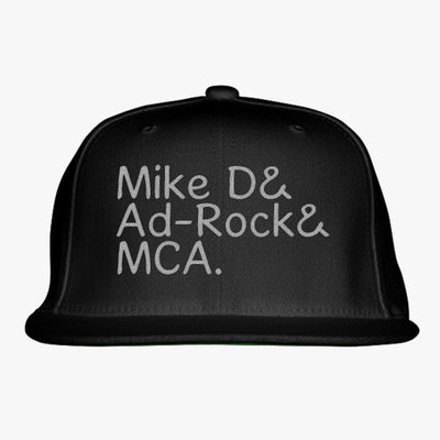 Mike D Ad-Rock Mca  Embroidered Snapback Hat