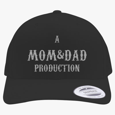 Mom Embroidered Retro Embroidered Trucker Hat