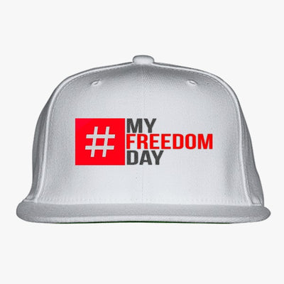 My Freedom Day Embroidered Snapback Hat