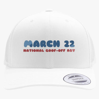 National Goof Off Embroidered Retro Embroidered Trucker Hat